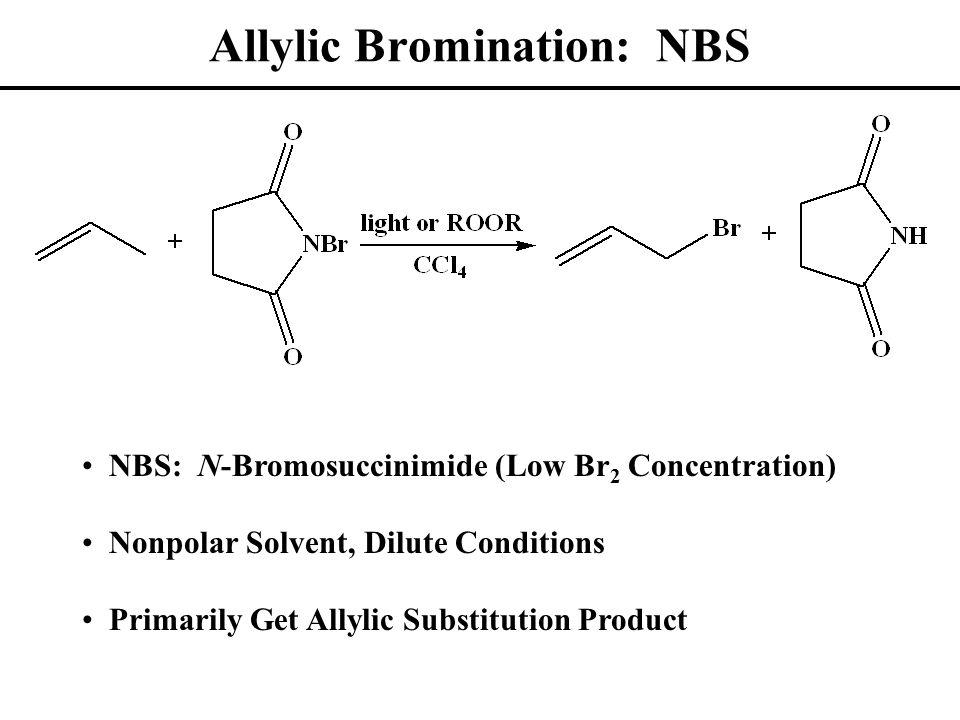 Allylic Radical: MO Description Three p Orbitals Combine to Form 3  Molecular Orbitals One Unpaired Electron (Radical)