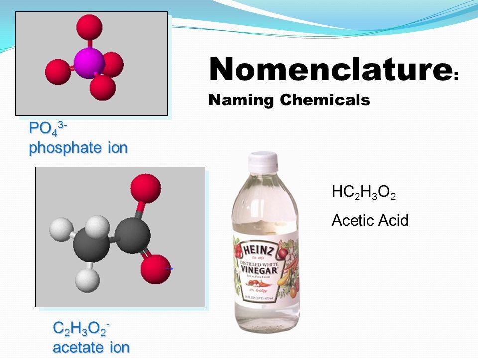 Acid Nomenclature Acids Compounds that form H + in water.