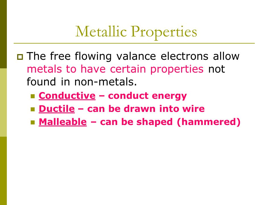 Metallic Bond  The metallic bond consists of a series of metals atoms that have all donated their valence electrons to an electron cloud that permeates the structure.