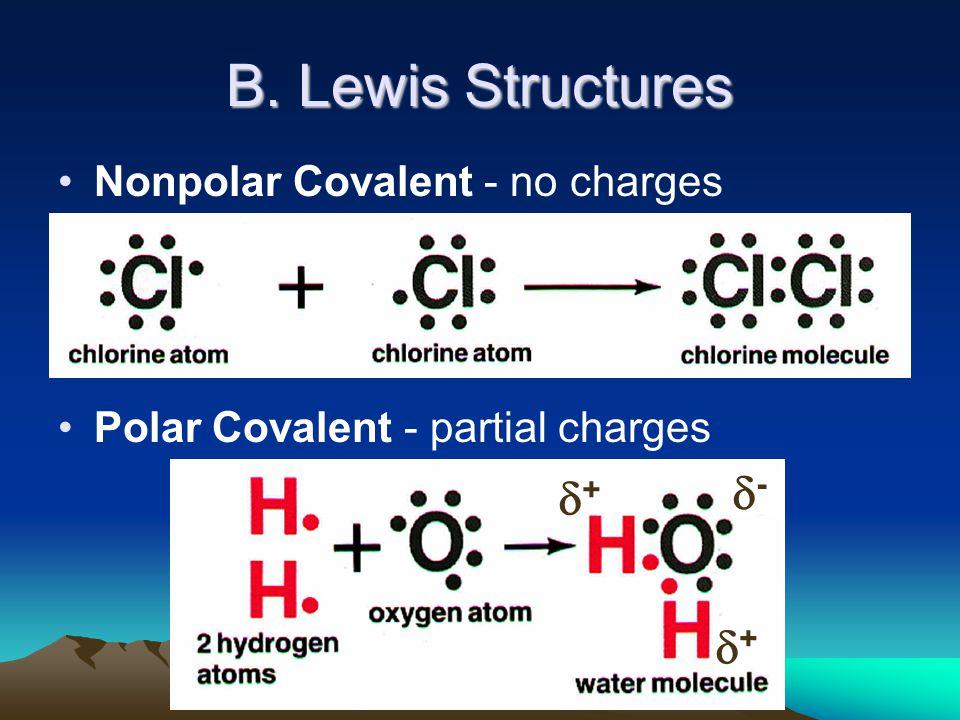 C. Johannesson ++ -- ++ B. Lewis Structures Nonpolar Covalent - no charges Polar Covalent - partial charges