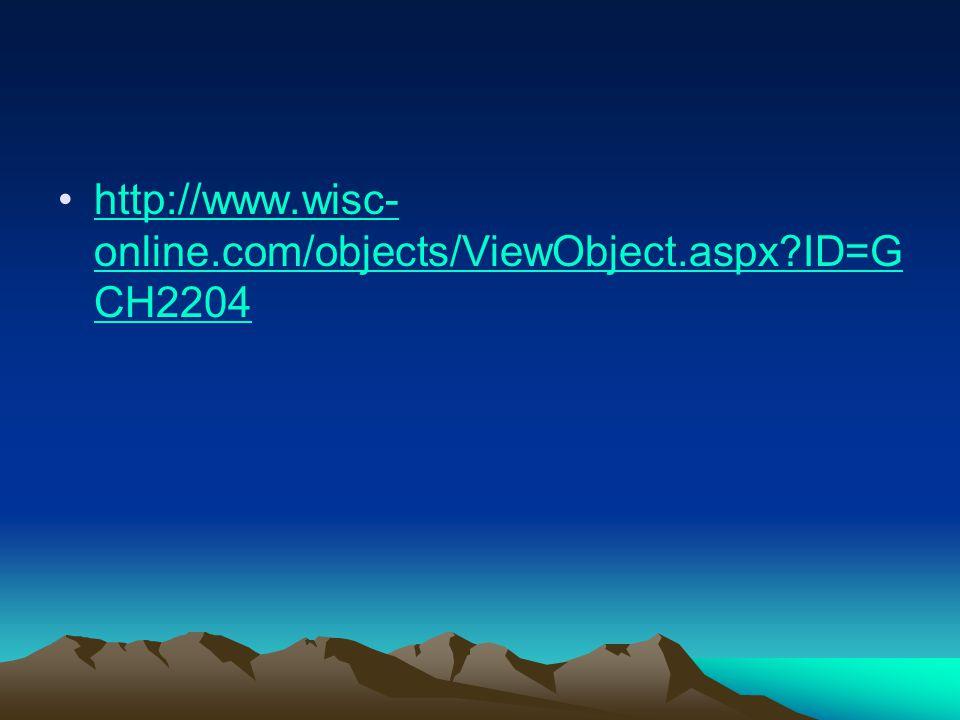 http://www.wisc- online.com/objects/ViewObject.aspx?ID=G CH2204http://www.wisc- online.com/objects/ViewObject.aspx?ID=G CH2204