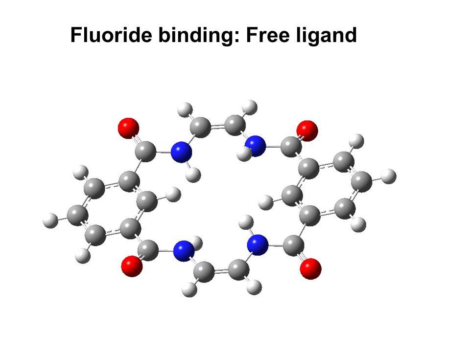 Fluoride binding: Free ligand