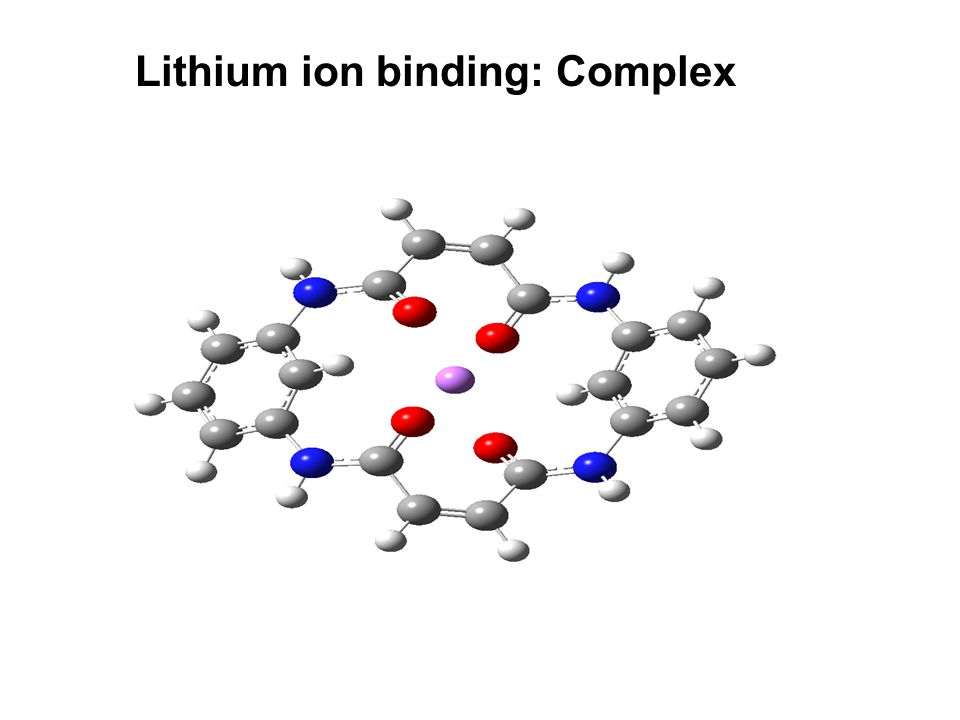 Lithium ion binding: Complex