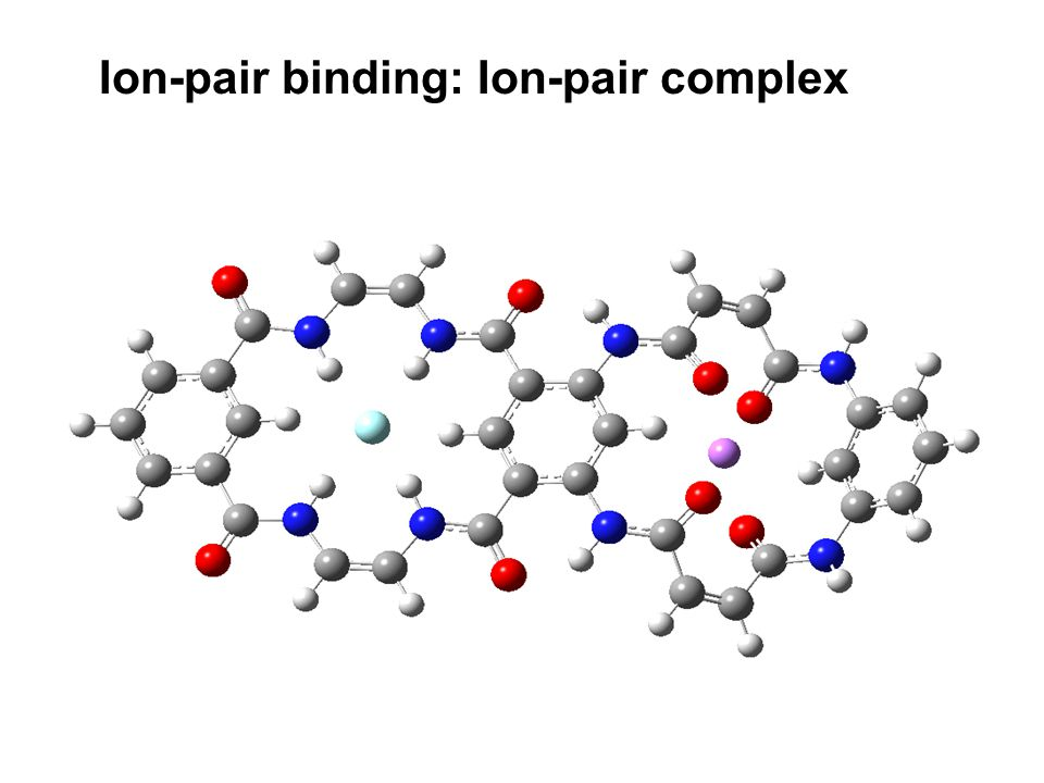 Ion-pair binding: Ion-pair complex