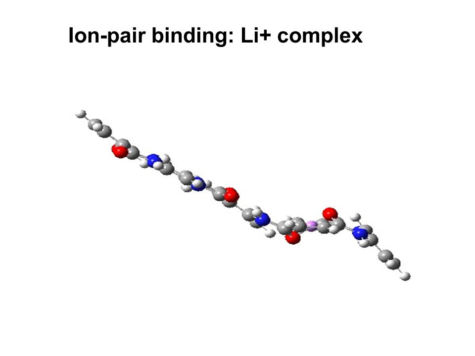 Ion-pair binding: Li+ complex