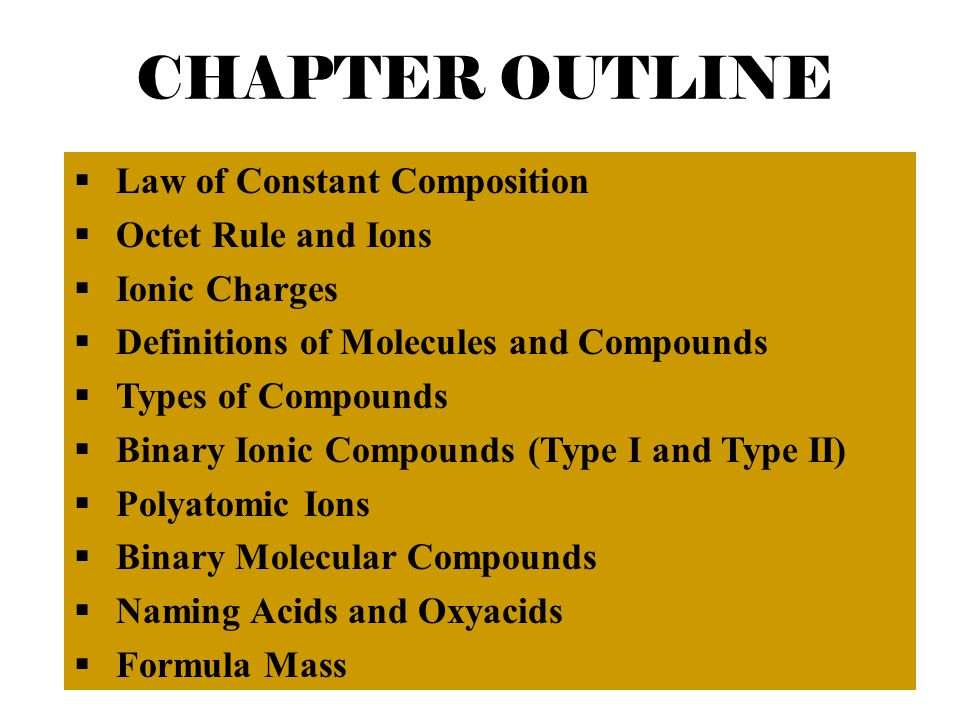 Chapter 5 Molecules and Compounds 2006, Prentice Hall Sucrose molecule (sugar), contains C, H, and O atoms.