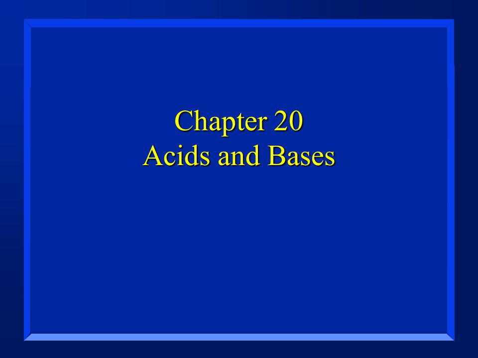 Section 20.1 Describing Acids and Bases n OBJECTIVES: –List the properties of acids and bases.