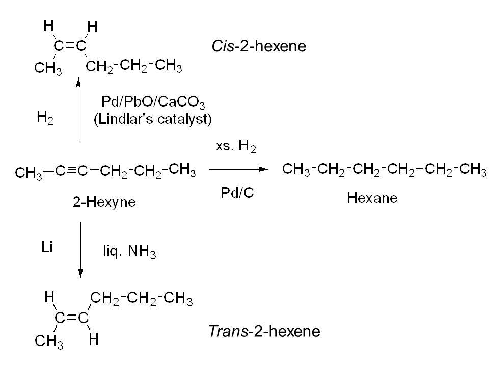 Cis-2-hexene Trans-2-hexene
