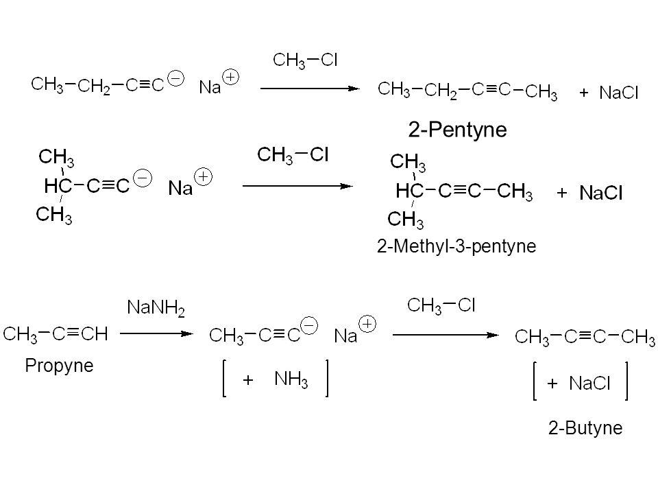 2-Pentyne 2-Methyl-3-pentyne Propyne 2-Butyne