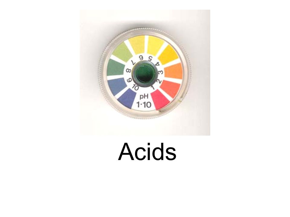 Acids are compounds that give off hydrogen ions, (H + ) when dissolved in water.