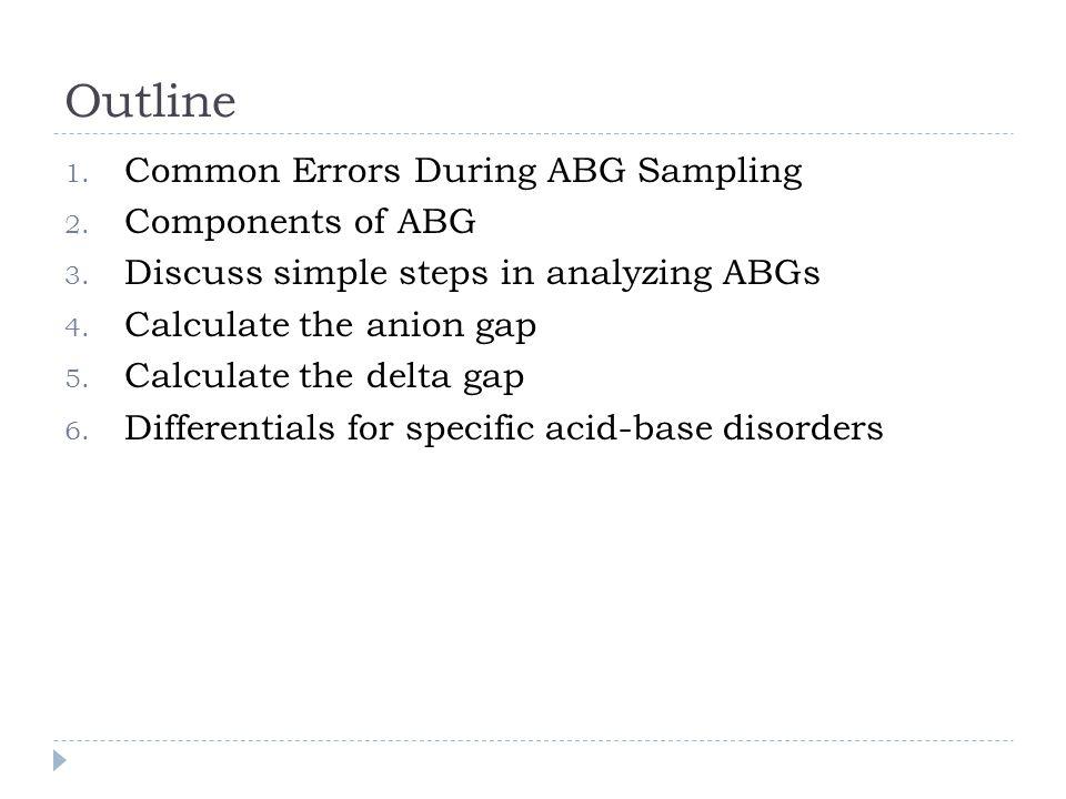 EXAMPLE  ABG 7.23/17/235 on 50% VM  BMP Na 123/ Cl 97/ HCO3 7/BUN 119/ Cr 5.