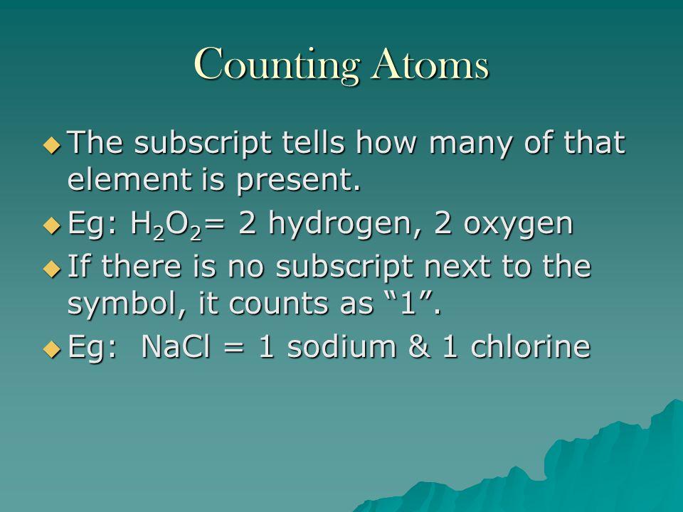 Chemical Names and Formulas Unit 5