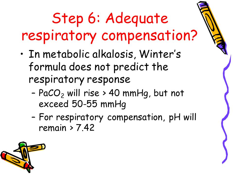 Step 6: Adequate respiratory compensation.