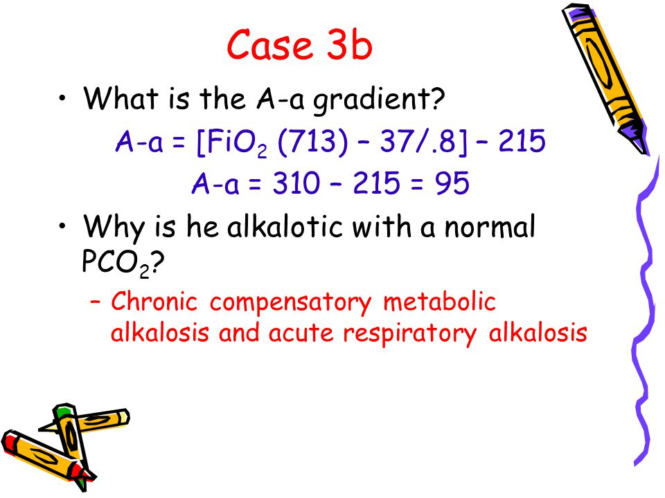 Case 3b What is the A-a gradient.
