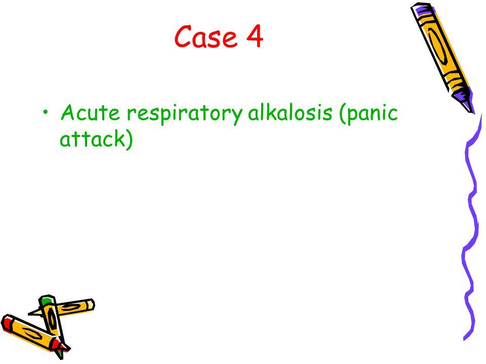 Case 4 Acute respiratory alkalosis (panic attack)