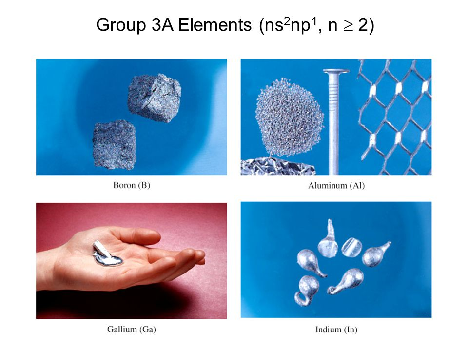 27 Group 3A Elements (ns 2 np 1, n  2)