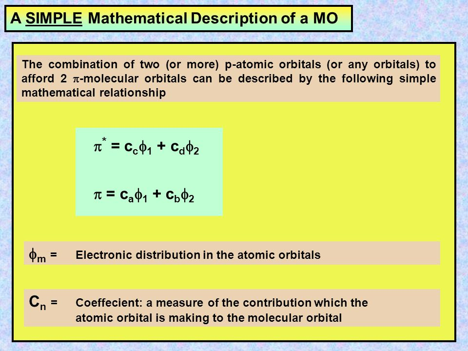 The linear combination of n atomic orbitals leads to the formation of n molecular orbitals