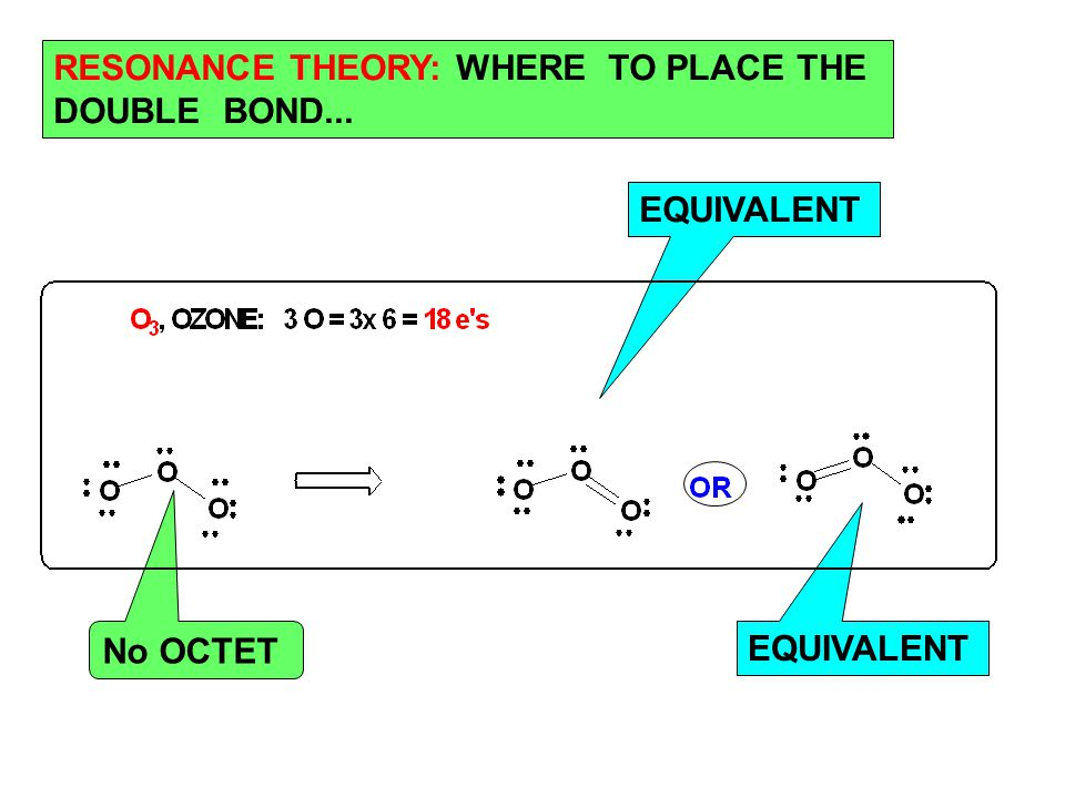 No OCTET EQUIVALENT RESONANCE THEORY: WHERE TO PLACE THE DOUBLE BOND...
