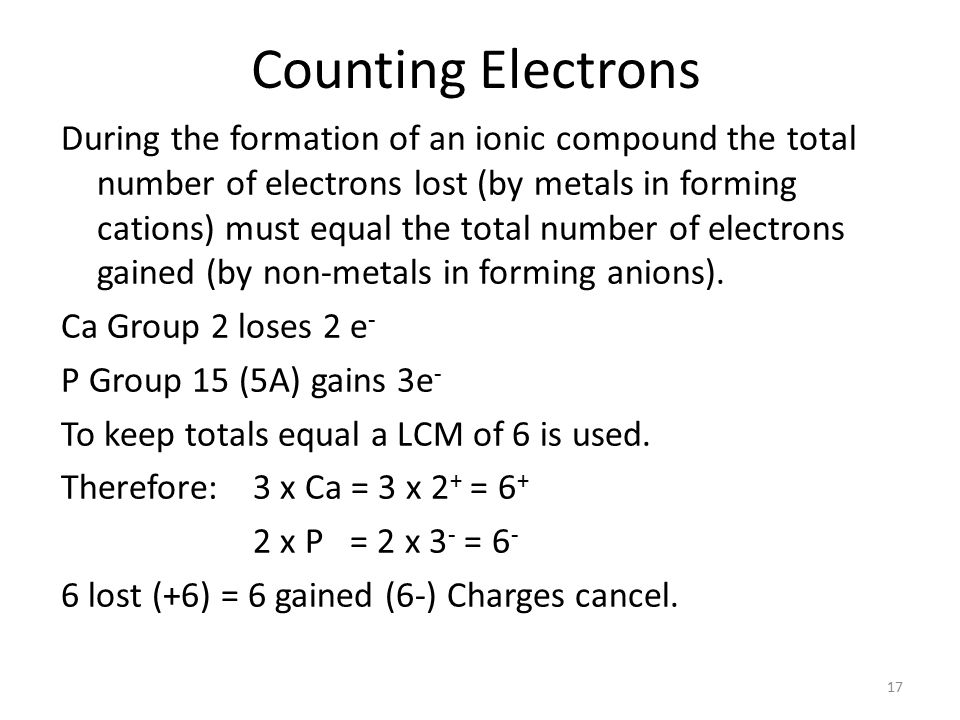 Ionic Bonding Na + Cl - Na lost 1 electron to form 1 + cation Cl gains 1 electron to form a 1 - anion The + and – attract (force of attraction is called an ionic bond) holds the ions together.
