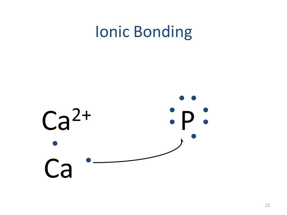 Ionic Bonding Ca 2+ P 20