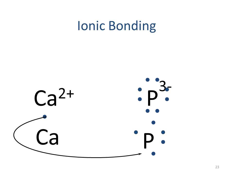 Ionic Bonding Ca 2+ P 3- Ca 22
