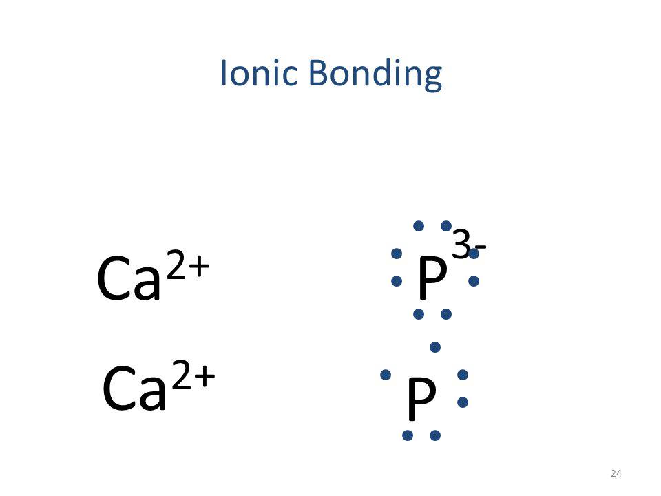 Ionic Bonding Ca 2+ P 3- Ca P 23