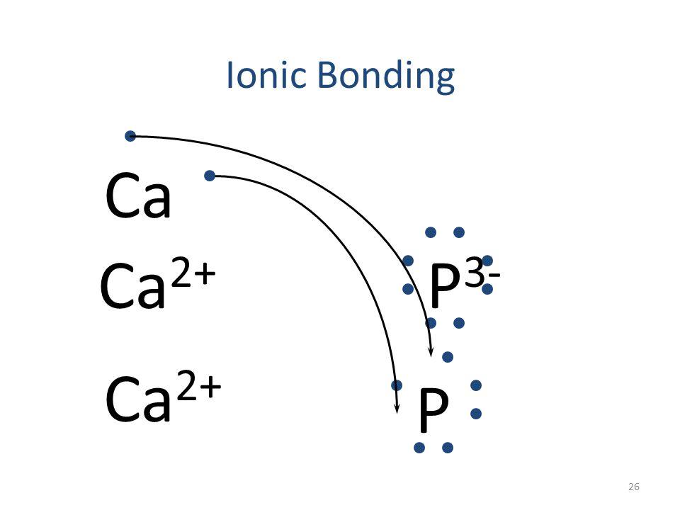 Ionic Bonding Ca 2+ P 3- Ca 2+ P Ca 25