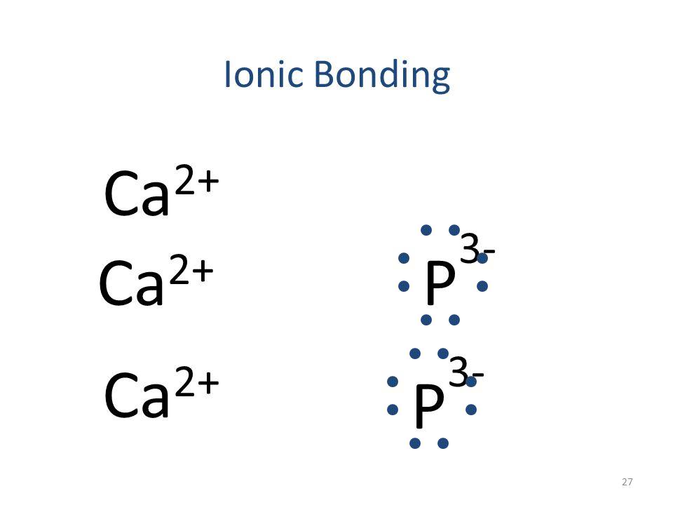 Ionic Bonding Ca 2+ P 3- Ca 2+ P Ca 26