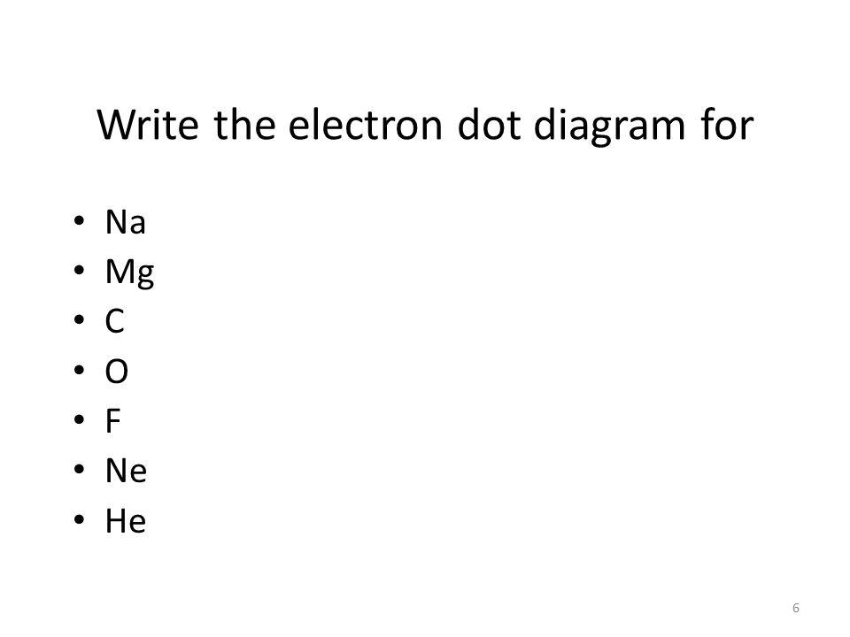 The Electron Dot diagram for Nitrogen l Nitrogen has 5 valence electrons.