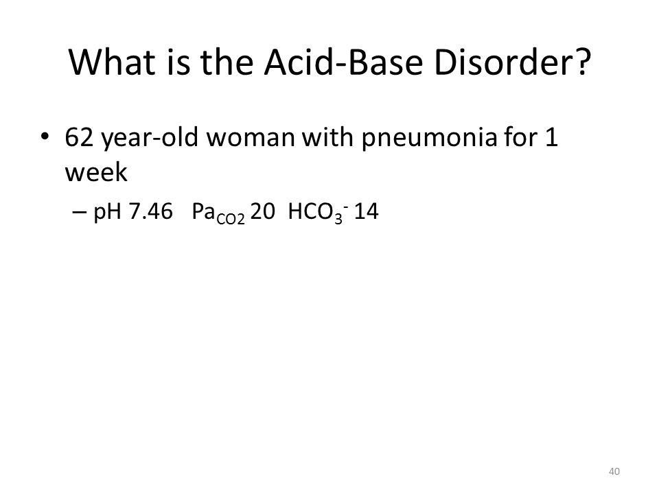 What is the Acid-Base Disorder.