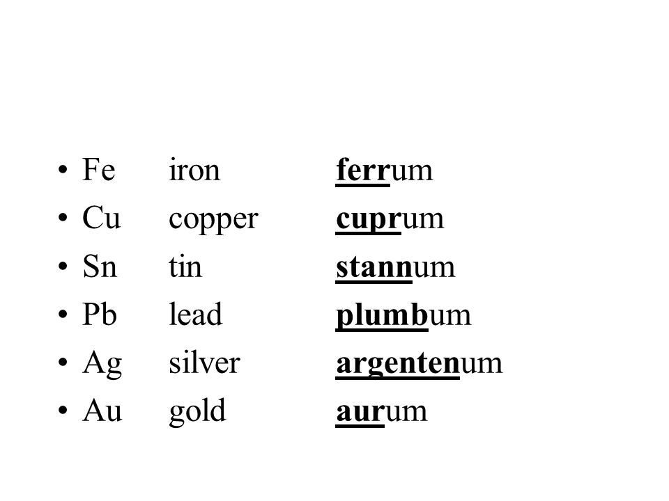 II. Older Nomenclature -ic (ion of higher charge) Root + endings identifies the metal -ous (ion of lower charge) Fe 2+ ferrous ion Sn 4+ stannic ion C