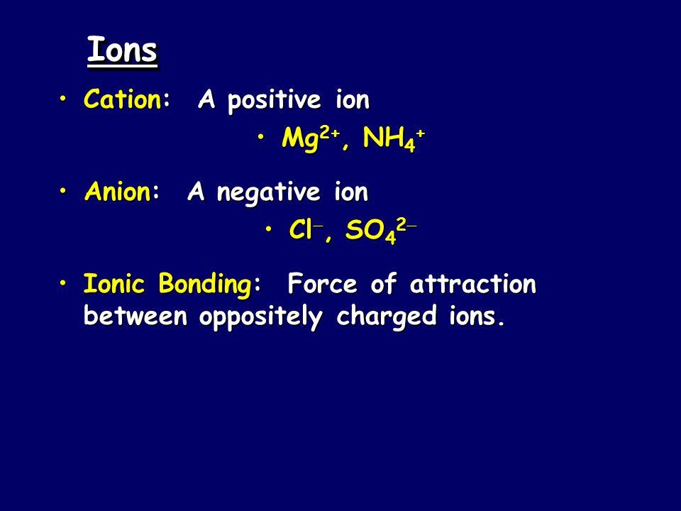 Bonding Ions