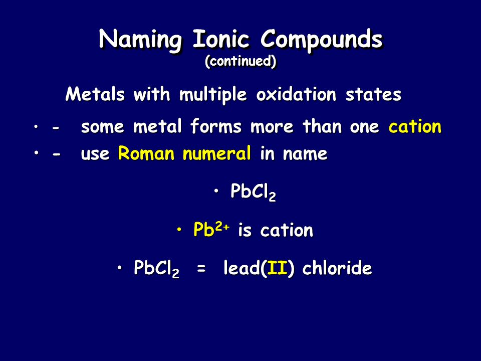 Naming Ionic Compounds 1. Cation first, then anion1.
