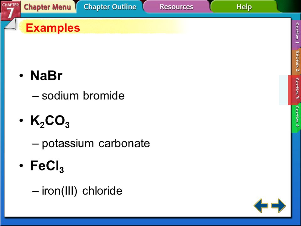Section 7-3 Names for Ions and Ionic Compounds (cont.)