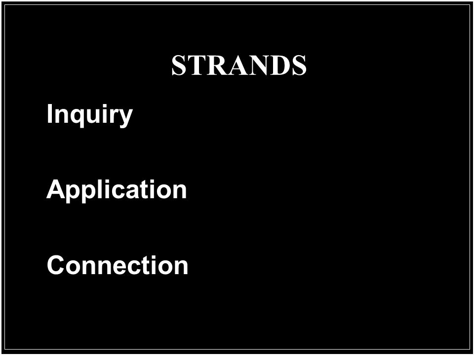 STRANDS Inquiry Application Connection