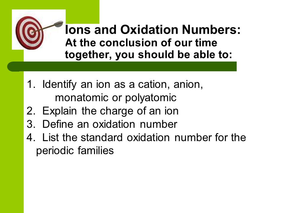 Assigning Oxidation Numbers Group 15 Nonmetals = -3