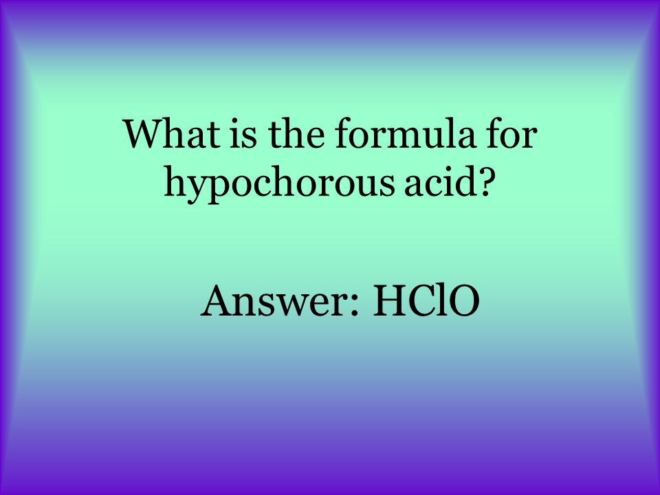 What is the formula for hydrosulfuric acid Answer: H2SH2S
