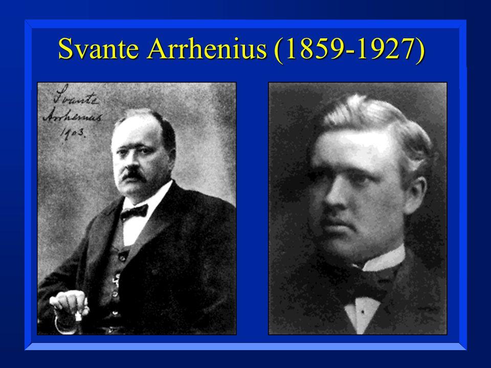 Svante Arrhenius (1859-1927)