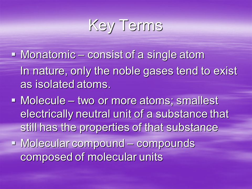 The Noble Gases  Helium – less dense than air; often used to inflate balloons  Passing an electric current through a noble gas produces neon lights: Neon (orange-red) Neon (orange-red) Helium (yellowish) Helium (yellowish) Argon (lavender) Argon (lavender) Krypton (whitish) Krypton (whitish) Xenon (blue) Xenon (blue)