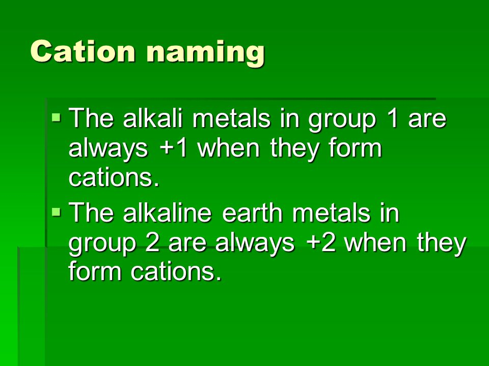 Traditional system of naming  Makes use of suffixes  The suffix –ous is added to the latin root of the metallic ion that has the lower charge.