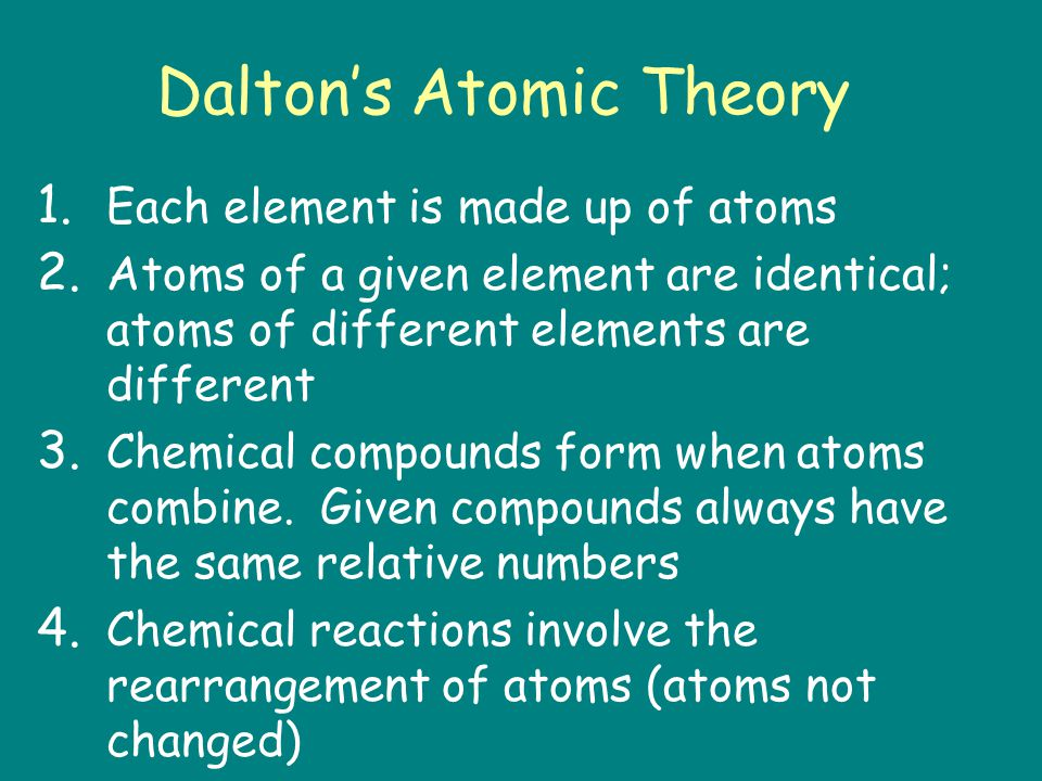 Laws of Chemistry Law of Conservation of Mass – Mass cannot be created nor destroyed Law of Definite Proportions – Compounds have a definite composition – Compounds react in ratios by mass Law of Multiple Proportions – Elements combine in small whole number ratios – Water vs.