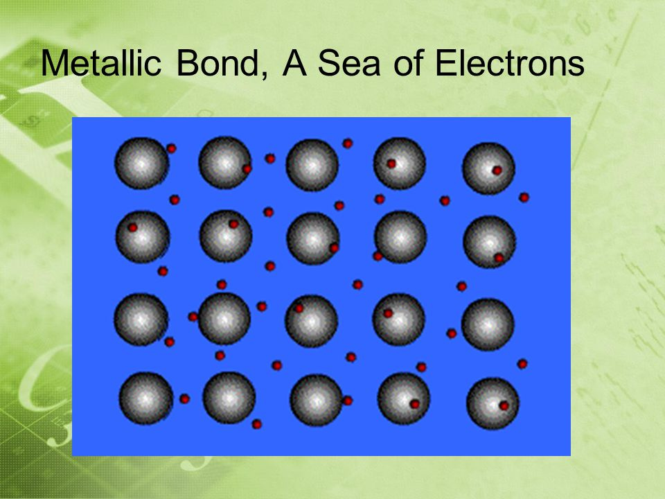 Metallic Bond, A Sea of Electrons