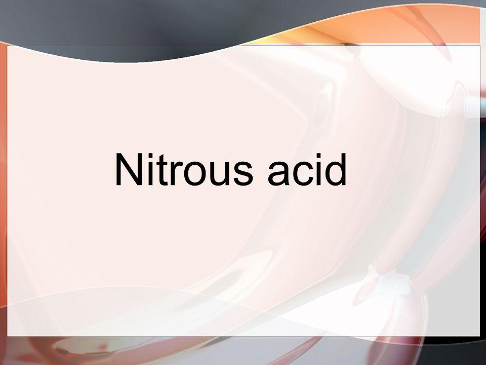 Nitrous acid