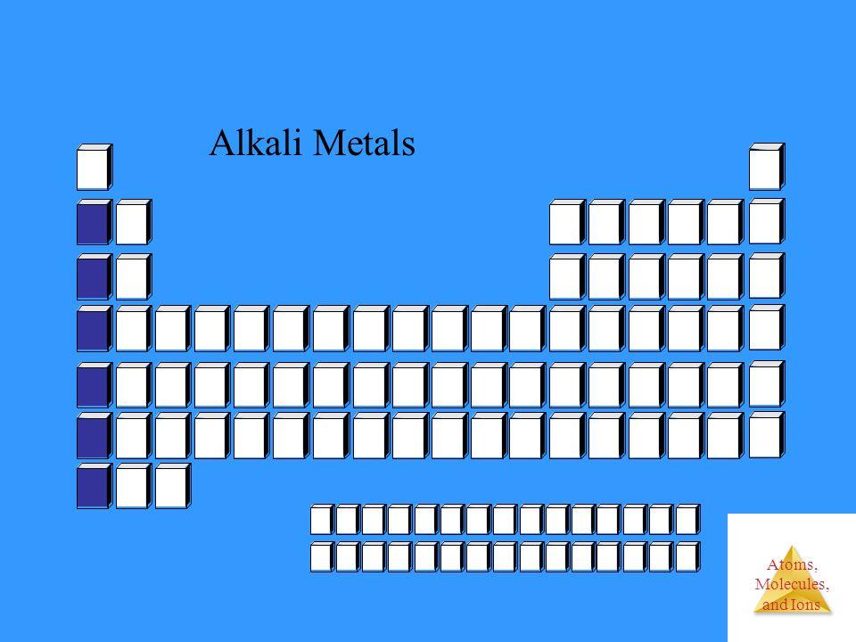 Atoms, Molecules, and Ions Alkali Metals