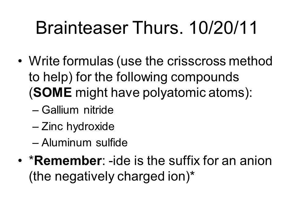 Brainteaser Thurs.
