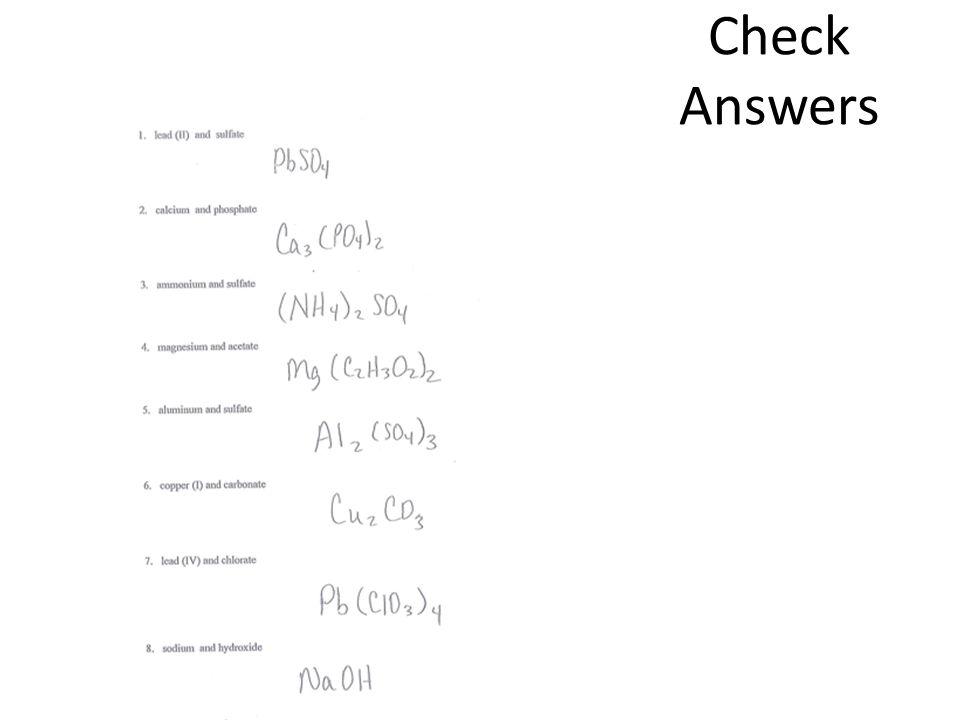 Check Answers