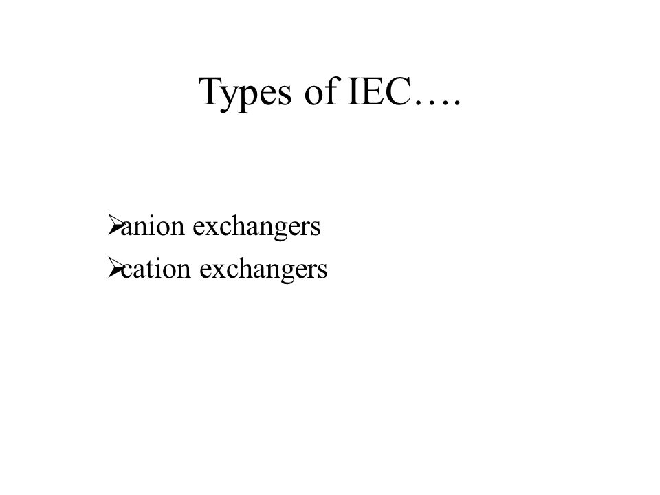 Cation exchange chromatography ---positively charged molecules are attracted to a negatively charged solid support.