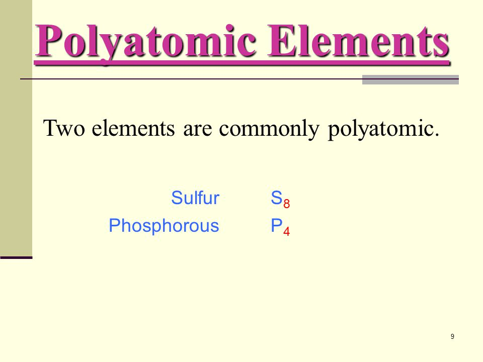 110 There are three common positively charged polyatomic ions. ammoniumhydronium mercury(I)