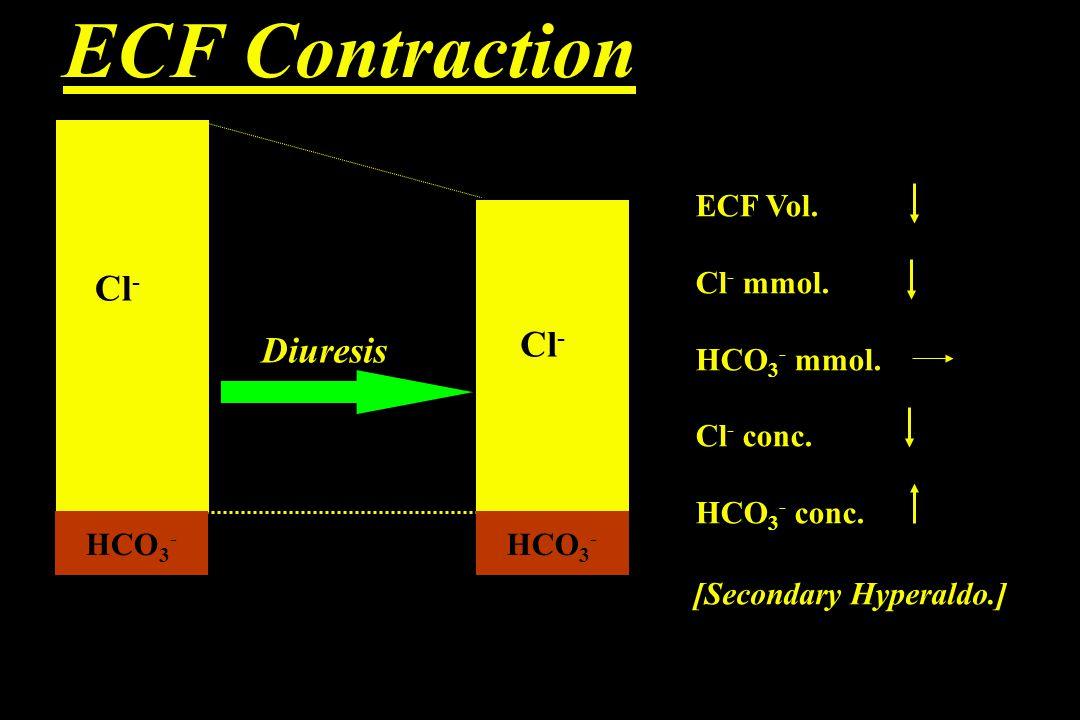 ECF Contraction HCO 3 - Cl - Diuresis HCO 3 - Cl - ECF Vol.