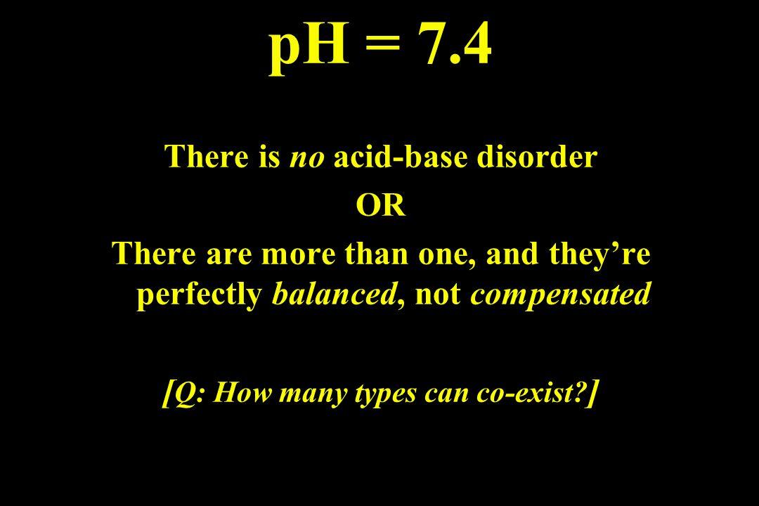 Case #3 pH 7.55 PaCO 2 40 HCO 3 - 38 Case #4 pH 7.34 PaCO 2 60 HCO 3 - 31